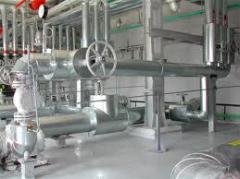 Teploizolyatsiiya for high-temperature pipelines.