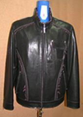 Куртки мужские кожаные, оптовое изготовление,пошив