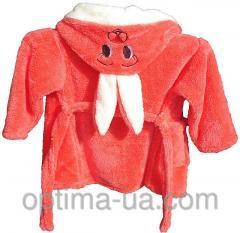 Детский махровый халат Зайчик от 4-7 лет