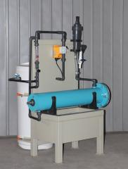 Block electrolysis installation of disinfecting of