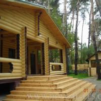 Wooden houses fellings