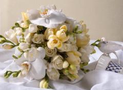 Wedding bridal bouque
