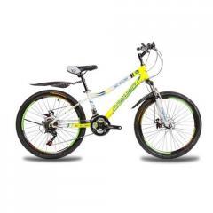 Яркий,стальной велосипед Rover24Disc13RS35 бел-жл