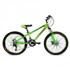 Яркий,салатовый велосипед Pirate24 Disc11 RS35