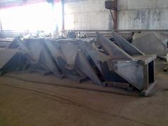 Цельные металлоконструкции весом до 25 тонн.