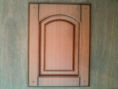 He patinated MDF facade the Gothic style