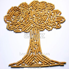 Wooden hard-wooded broadleaved pellets
