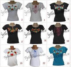 Вышиванки футболки женские ТМ ЛІТО ТОЛЬКО ОПТ