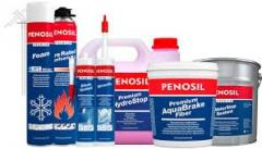 Пены, герметики ТМ Penosil, средства защиты ТМ