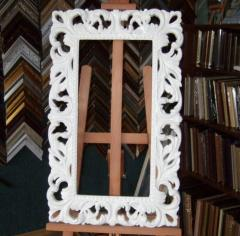 Frame carved for mirrors