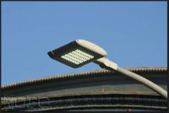 Streetlights. Lamps are hybrid stree