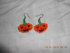 Earrings from beads