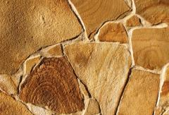 Stone flat natural (sandstone) of thicknesses. 1,0