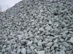 Crushed stone cubical, marble, fractioned,