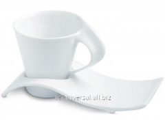 Cups with a saucer, tea and coffee sets