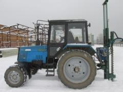 Мини буровая установка марки МКТБ16 на тракторе