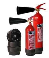 Supports under carbon dioxide OU-2, OU-3 fire extinguishers