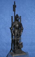 """Каминный набор """"Рыцарь"""" (черный) - комплект для обслуживания камина состоящий из 4х предметов. Изготовим мангалы, барбекю, шашлычницы, коптильни из нержавеющей стали по индивидуальному заказу."""