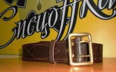 Belts officer leather, belts officer buckle brass