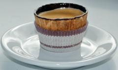Wafer Cup with chocolate espresso