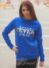"Stylish women's sweatshirt ""Never"