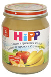 Bananas and peaches in HiPP apple puree, Fruit