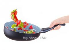 Frying pan Wok curved Delimano Ceramica Delicia