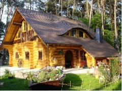 Houses fellings wooden. Residential individual