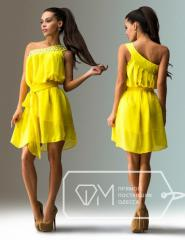 "Stylish youth dress pass ""Chiffon through"
