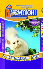 Filler for cat's toilets of Champion flavored