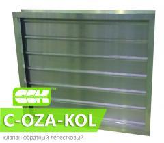 Клапан обратный лепестковый C-OZA-KOL