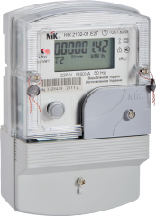 N_K 2102-01 counter. E2T1 multitariff single-phase