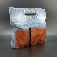 Сумка средняя джинсовая женская 8055