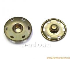 Button attached D17 of mm metal (gold)
