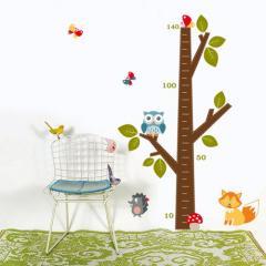 Дерево-ростомер, наклейка в детскую