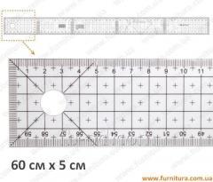 Ruler lekalny plastic No. 16