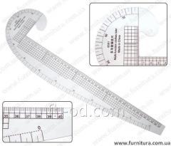 Ruler lekalny plastic No. 11
