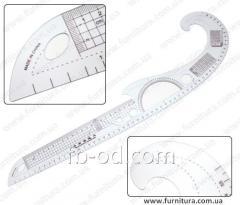 Ruler lekalny plastic No. 12
