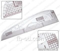 Ruler lekalny plastic No. 14