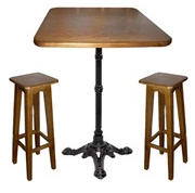 Furniture for a pizzeria: tables chairs stools