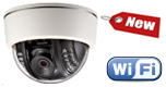 Купольная IP видеокамера WiFi с ИК подсветкой