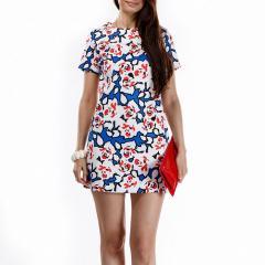 Платье Look Вафелька в цветок new-23899