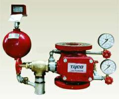 Узлы управления системами водного пожаротушения