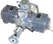 Two-stroke SSh-170 aviation engine (Two-cycle aero