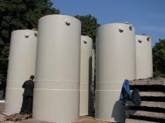 Tanks for water, food tanks
