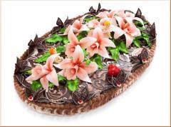Торты шоколадные любимым Луганск,Торты на заказ в