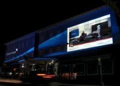 Projective advertizing. GOBO projectors.