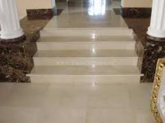 Steps from marble and granite