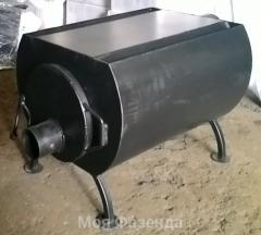Oven a potbelly stove on solid fuel of 180 cbm.