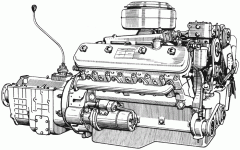 The second-hand engine from dismantling of